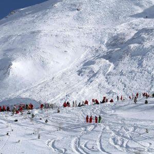 Arkivbild från Tignes den 13 februari då fyra personer där omkom i en lavin.