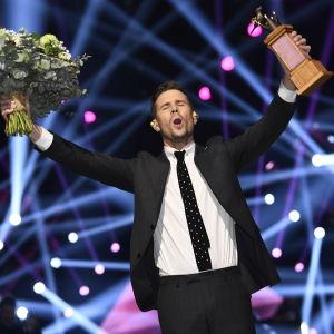 Robin Bengtsson vann Melodifestivalen 2017.