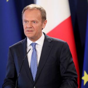 Europeiska rådets ordförande Donald Tusk på Malta den 31 mars 2017.
