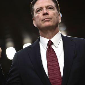 Den förra FBI-chefen James Comey vittnar inför senaten i USA 8.6.2017.