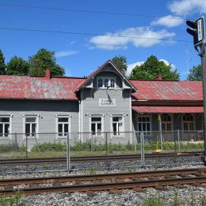 Sjundeå tågstation.