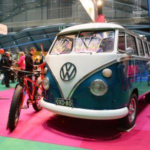 En klassisk Volkswagen gjorde reklam för ett hotell i Iso-Syöte.