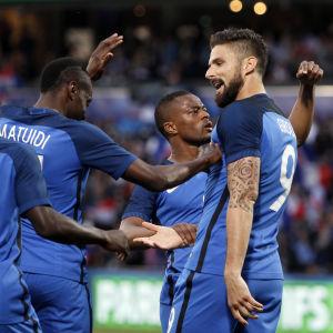 Olivier Giroud har gjort mål i Frankrikes två avslutande träningsmatcher inför EM. Lyckas han i kväll igen?