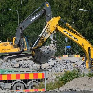 Bygget av Smedsby omfartsväg