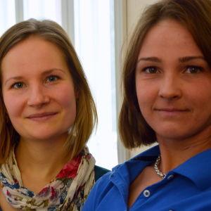 Jenny Sinisalo och Eva Ramstedt.