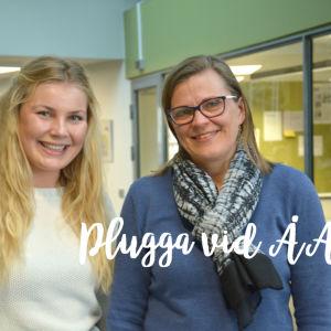 Professor Eva Österbacka och studerande Ronja Hilli