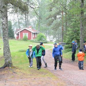 Barn på scoutläger i Kimito