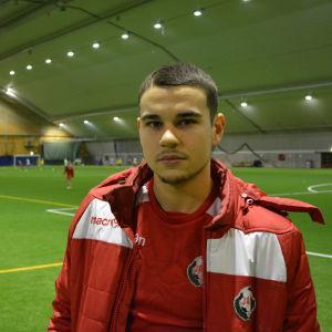 Baselproffset Sergei Eremenko tränade med FF Jaro under vinteruppehållet.