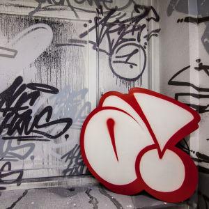 Graffiti av Akte One och Cren i THE HAUS