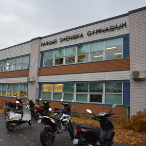 Pargas svenska gymnasiums skolbyggnad