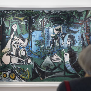 'Le Dejeuner sur l'Herbe, after Manet' av Pablo Picasso.