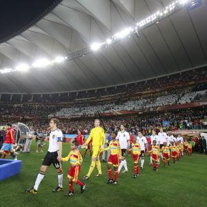 VM-arenan i Durban skådeplats för en semifinal 2010.