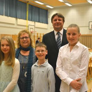 Tilde Löfqvist, Pia Boije, Lukas Vikström, Fredrik Sundell och Daniela Back