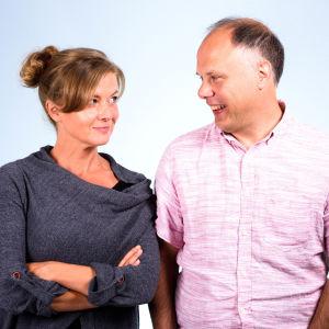 Porträtt på Jeanette Björkqvist och Magnus Londen.