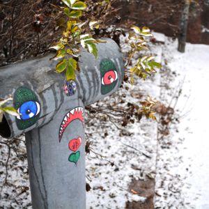 Det snöar i Borgå.