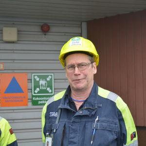 Huvudförtroendeman Timo Jansson vid SSAB