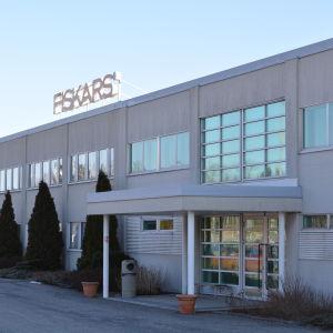 Ingången tll Fiskars fabrik i Billnäs, Raseborg