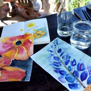 Akvarellmålningar