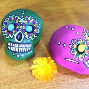Kaksi meksikolaisia pääkalloja