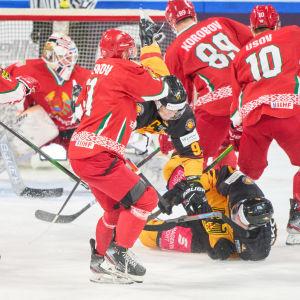 Valko-Venäjä pelasi MM-kisoihin valmistavan maaottelun Saksaa vastaan.