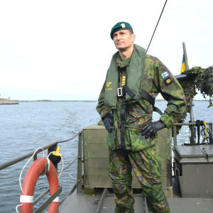 Nylands Brigads brigadkommendör Arvi Tavaila.