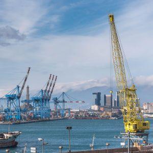 Genovan satama Italiassa