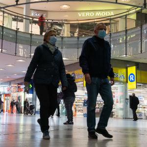 coronavirus, köpcentrum