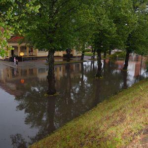 Översvämning i Karis