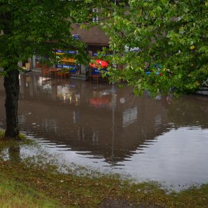 Översvämning i Karis centrum