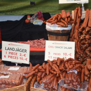 korvförsäljning på Ekenäs höstmarknad