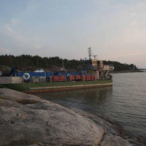 Skräpinsamlingsfartyget Jussi.
