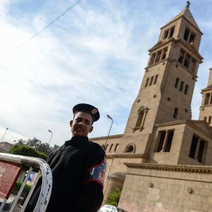 Arkivbild från 18.2.2016 på S:t Peters kyrka i Kairo.