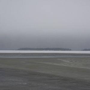 Svaga isar utanför Påttska reningsverket i Vasa.
