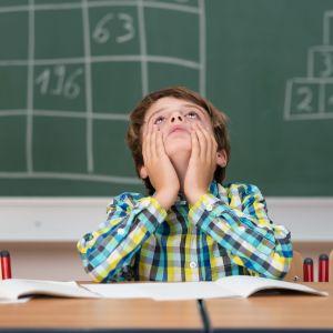 Ett barn i skolan.