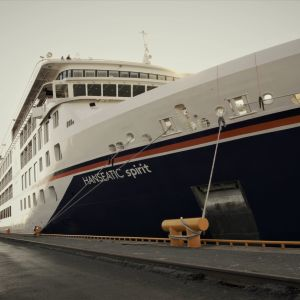 Hanseatic Spirit -alus Vaasassa 29.9.2021