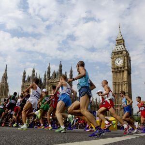 OS-marathon löptes i hjärtat av London.