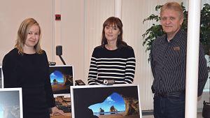 Anna Forsman, Johanna Nordmyr och Tom Lillas.