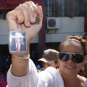 Anhängare till Manuel Zelaya i Honduras