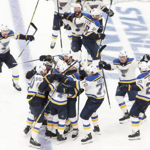 St. Louis Blues vann sin första Stanley Cup-final någonsin.