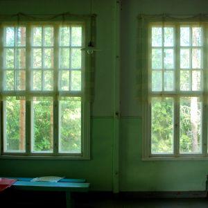 Fönster i stora klassrummet