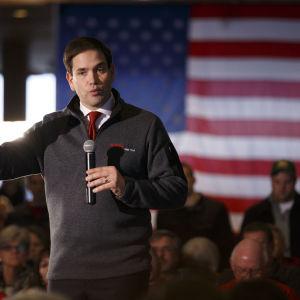 Marco Rubio på valmöte under primärvalet i Iowa 30.1.2016