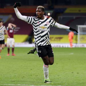 Paul Pogba jublar efter ett mål.