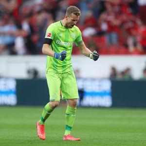Lukas Hradecky on Bayer Leverkusenin kapteeni.