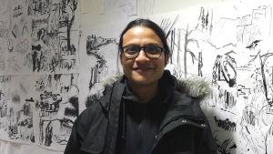 Suorya Sew från Indien studerar i Finland.