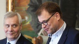 Antti Rinne och Juha Sipilä-