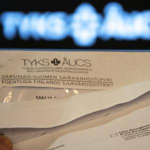 Kallelsebrev som skickats till patienter av ÅUCS.