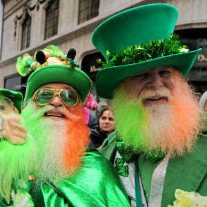 Irälndare firar Sankt Patriks dag.