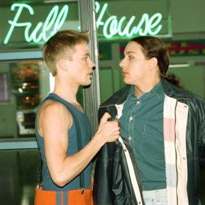 Kim Svennblad och Jesse Kamras i tv-serien Full House, 1996