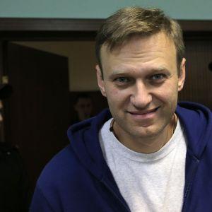 Aleksej Navalnyj under en domstolsförhandling i Moskva den 6 oktober 2017