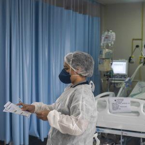 Tehohoitoyksikkö San Josen sairaalassa Rio de Janeirossa.
